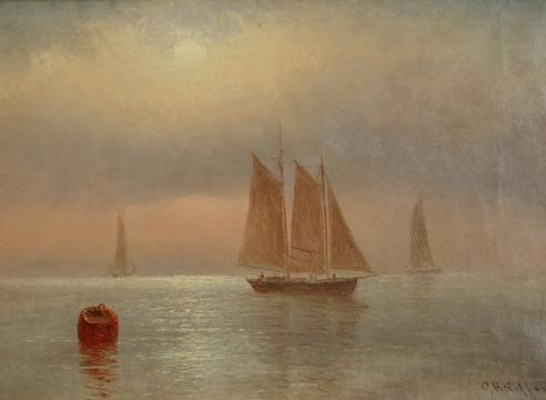 Schooner in Light Wind by C.H. Gifford