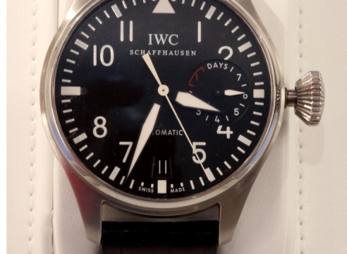 "IWC ""BIG Pilot"" Stainless Steel Seven Day Watch"