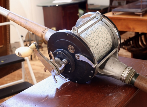 "Huge ""Ocean City"" 16/0 No. 616 Deep Sea Reel and Contiguous Rod"