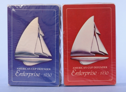 Pair of Enterprise America's Cup Playing Cards