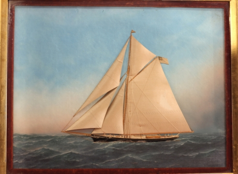 NYYC Sloop by T. Willis and Antonio Jacobsen