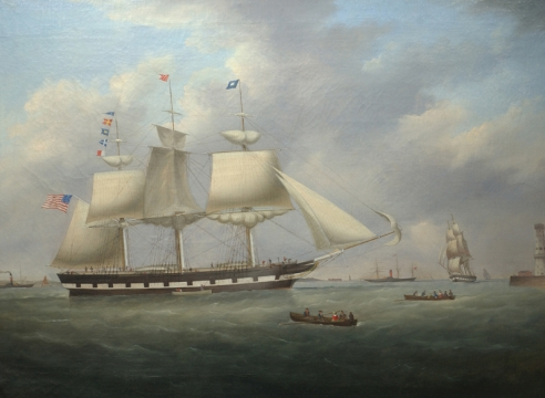 Ship Samuel Lawrence attributed to John Huges