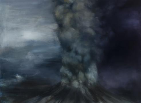 karen marston volcano painting
