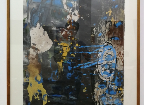 Somluk Pantiboon Untitled (Yellow, Blue), 2018