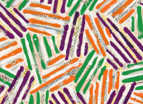 Jasper Johns catalog cover detail