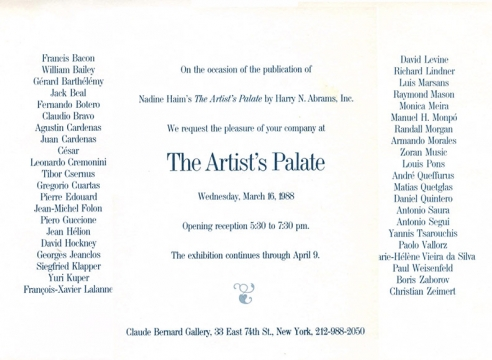 The Artist's Palate