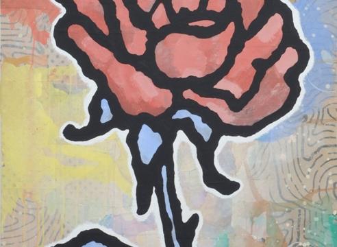 Red + Blue Rose