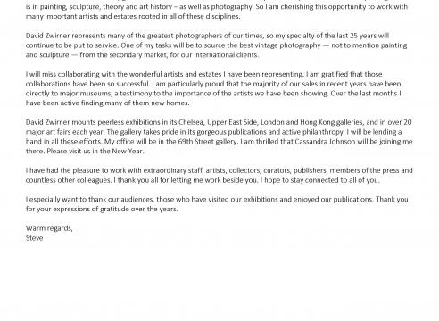 A letter from Steve Kasher