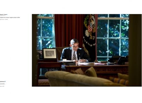 Pete Souza's 'Shade' in The New York Times