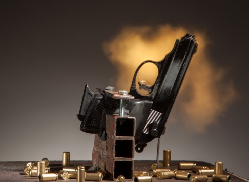 GUNS IN THE HANDS OF ARTISTS AT THE ASPEN INSTITUTE