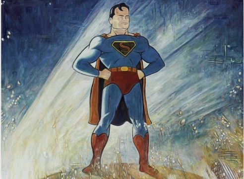 superman painting