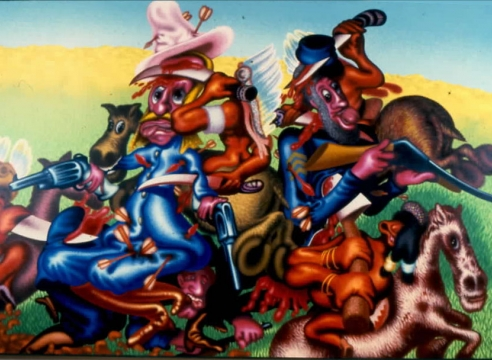 Peter Saul: Recent Paintings: Heroic Times
