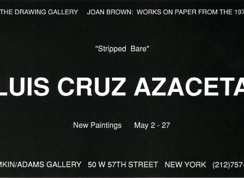 Luis Cruz Azaceta: New Paintings