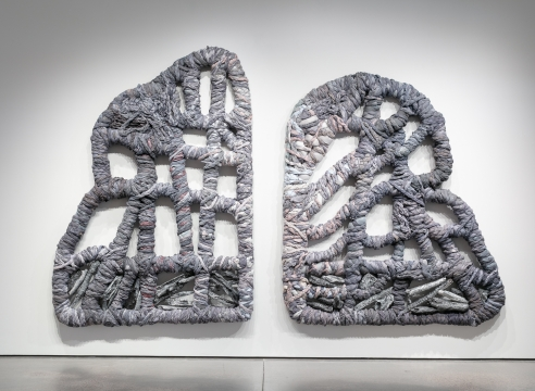 An artwork by Vadis Turner installed at University of Colorado Colorado Springs