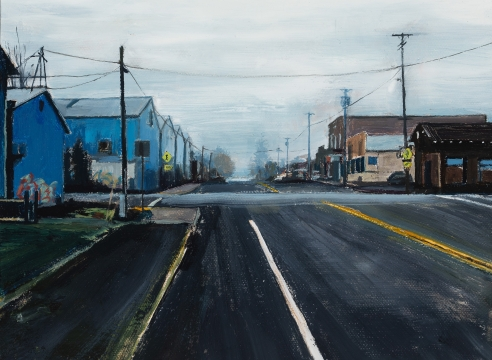 Roll Hardy - Marginal Crossroads - oil on canvas - 2019