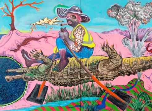 INXS: Never Before Seen Major Works by Simphiwe Ndzube, Moffat Takadiwa, Zhou Yilun