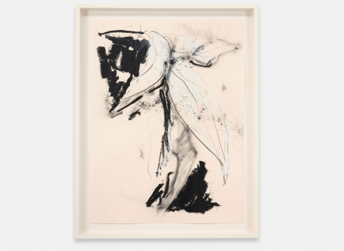 """ALT=""""Joseph Havel, First Flowers (S.F.) 10, 2017, Graphite and oil paint on paper"""""""