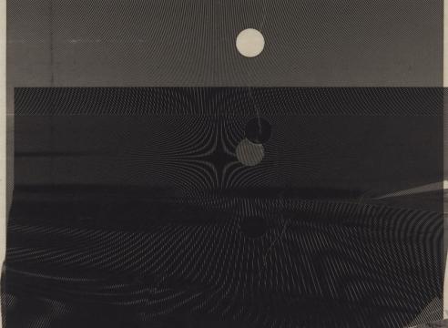 "Alt=""Marsha Cottrell, Untitled (Slip), 2018, Laser toner on paper"""
