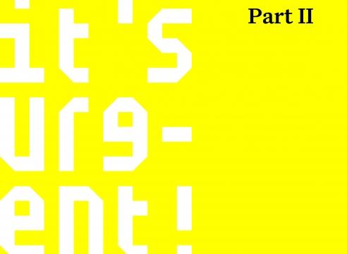 Stephen Shore | It's Urgent! - Part II