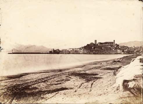 View of the port of Cannes (c.1852)