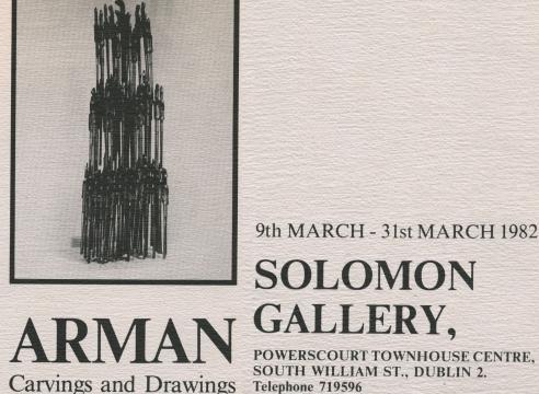 Arman: Carvings and Drawings