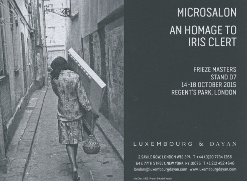 Microsalon: An Homage to Iris Clert