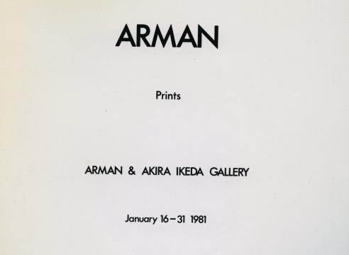 Arman: Prints