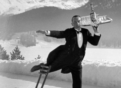 Alfred Eisenstaedt Ice Skating Waiter
