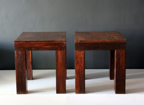 "Pair of ""Parsons"" Side Tables / Don Shoemaker"