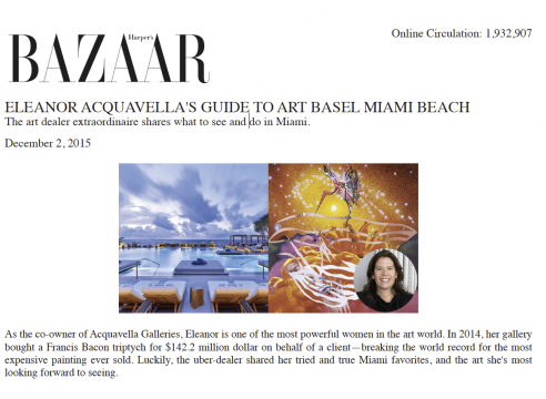 Harper's Bazaar Eleanor Acquavella Article Miami Beach