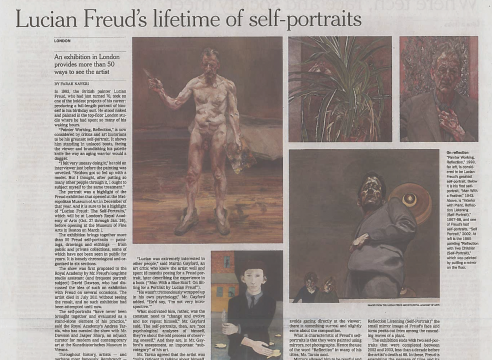 "Frah Nayeri, ""Lucian Freud's lifetime of self-portraits"""
