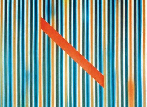 Ross Bleckner : Stripe Paintings from the 80's