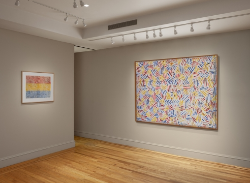 Jasper Johns: Crosshatch at Craig F. Starr Gallery