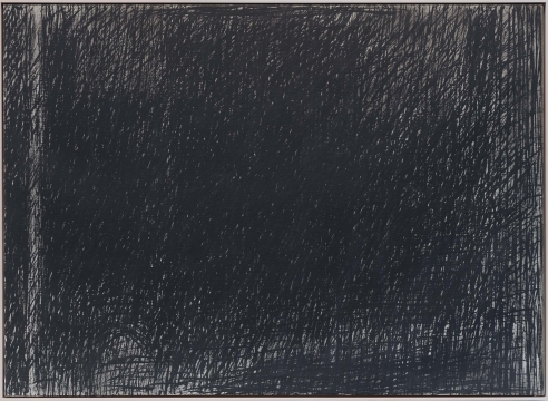 black abstract oil painting on canvas