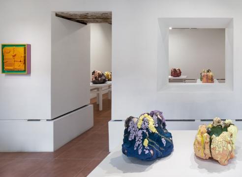 Installation view of Brian Rochefort ceramics