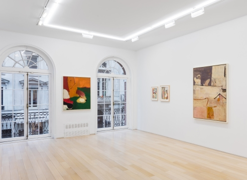 installation view of Richard diebenkorn paintings and drawings
