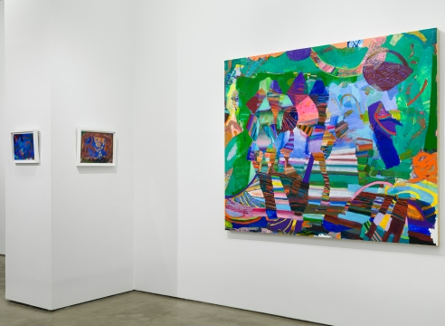 """Installation view of Carolyn Case exhibition """"Before it Sinks In"""""""