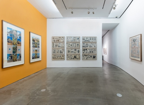 installation of works on paper by Matthew Craven