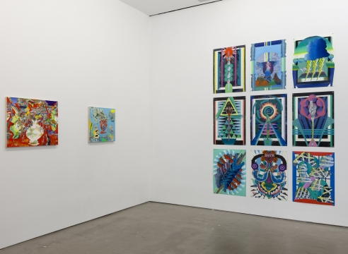 installation of group exhibition