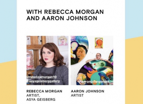 """""""Drink & Draw with Rebecca Morgan and Aaron Johnson"""" - Future Fair Online Promo"""