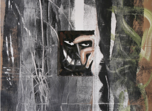 Ricardo Gonzalez painting on canvas