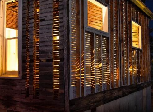 Site specific house installation by Julie Schenkelberg