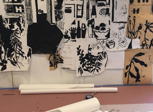 Allison Gildersleeve paper installation, in progress
