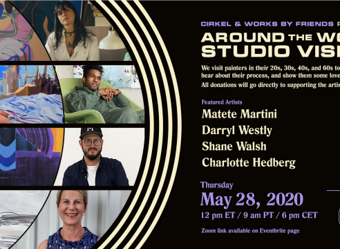 """Shane Walsh in Virtual Studio Tour: """"Works by Friends x Cirkel Presents: Studio Visits Around the World"""""""