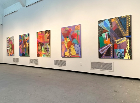 Installation view of Shane Walsh solo show