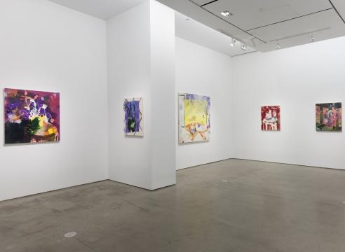 installation of Angelina Gualdoni paintings