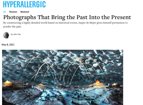 """Press on Jasper de Beijer: Hyperallergic, """"Photographs That Bring the Past Into the Present"""", by John Yau"""