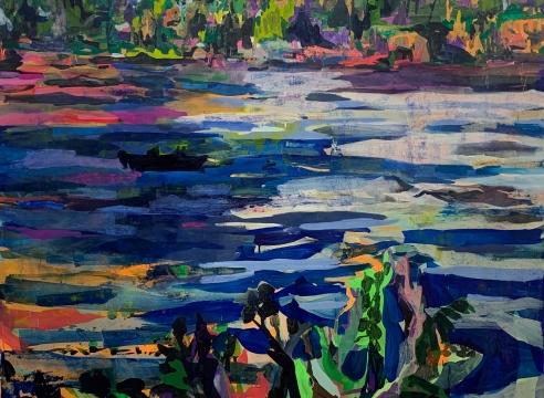 Detail of Allison Gildersleeve painting