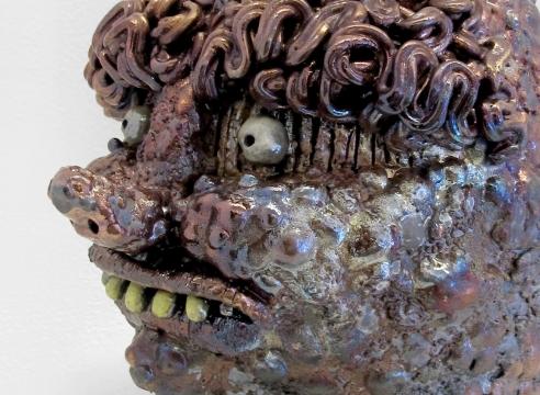 ceramic face jugs by Rebecca Morgan