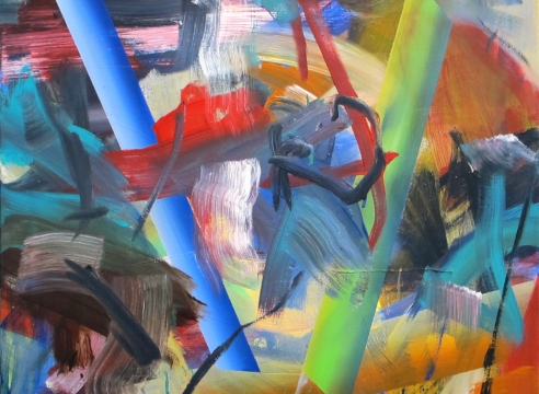Painting on canvas by Gerhard Frommel